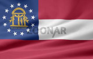 Flagge von Georgia - USA