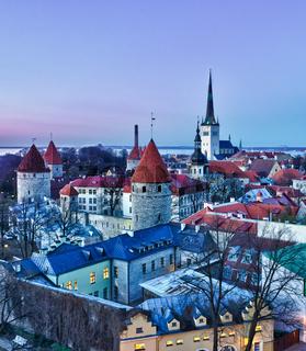 Old town of Tallinn Estonia