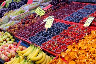 Fruit display in market