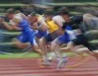 100m-Lauf der Männer - Typical (verwischt)