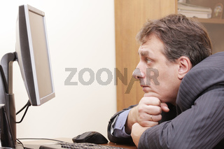 Businessman looks to monitor