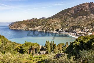 Levanto on the Ligurian coast of Italy