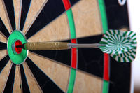 Arrow Stiffed Right In The Middle Of Darts Board