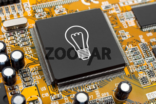 Bulb on computer chip