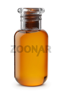 Small plastic shampoo bottle