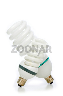 Energy saving lamp isolated on the white background