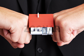 Druck auf ein Haus