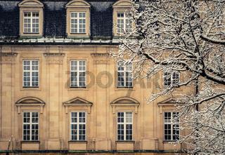Snowy Luxury Mansion House