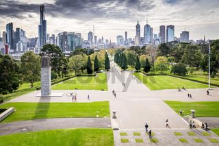 Cityscape of Skyline in Melbourne, Australia