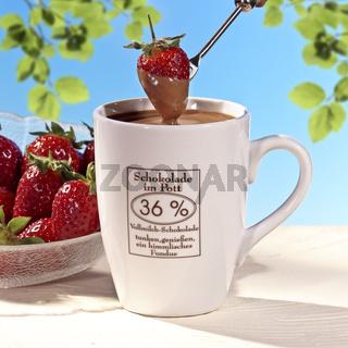chocolate and strawberry