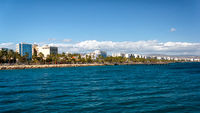 Coast line of Limassol, Cyprus
