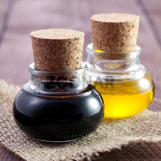 Balsamico und Öl