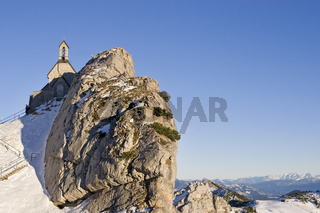 Wendelsteinkircherl, Kirche auf dem Wendelstein, Bayern, mountain church on the Wendelstein, Bavaria