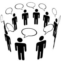 Symbol People Social Media Network Ring Group Talk