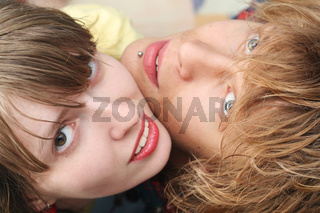 Portrait of smiling young beauty couple 2