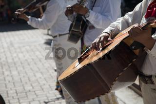 Festive Mariachi Band Playing in Maxico Plaza