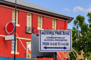 'Alkoholfreie Zone': Verbotsschild in Wagga Wagga