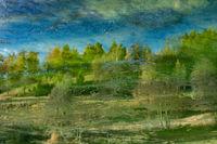 Abstraktes Herbstbild