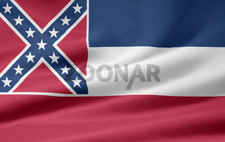 Flagge von Mississippi - USA