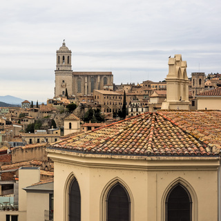 Altstadt von Girona, Spanien, mit Kathedrale