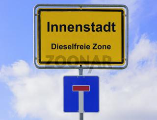 Dieselfreie Zone in der Innenstadt