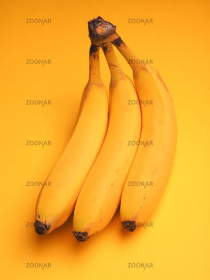 Three fresh bananas