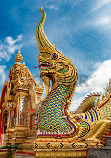 Tempelwächter Drache Buddha Thailand
