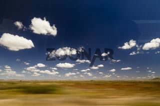 auf der Fahrt durch Namibia