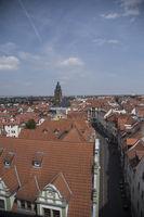 Blick vom Rathaus über Gotha mit Kirche St. Margarethen