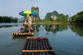 Bamboo raft, China