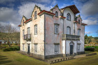 old ancient manour house at sao, miguel, azores