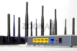 Wlan Router isolated on white background