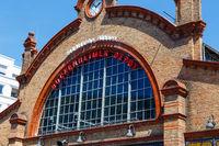 Frankfrut, Bockenheimer Depot am Carlo-Schmid-Platz, gegenüber der Bockenheimer Warte. Mai 2017.