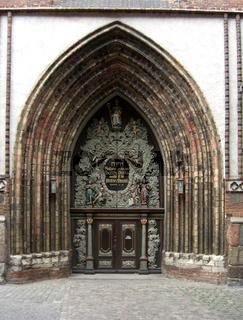 Westportal der St. Nikolaikirche in Stralsund