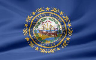 Flagge von New Hampshire - USA
