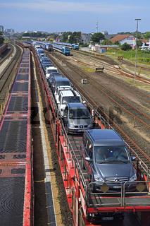 Autozug, Sylt Shuttle als Verbindung der Insel Sylt mit dem Fest