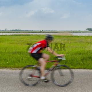 Fast Biker in Red