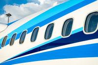 Airplane windows in passenger aircraft