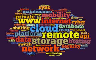 Cloud word cloud concept