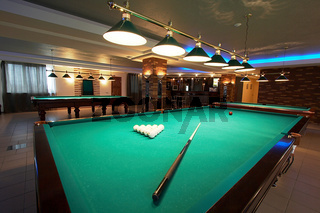 Table for game in billiards