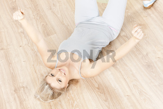 young woman doing excercises