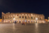 Verona Arena, Italy in a night in springtime