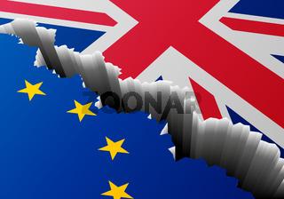 Flag Europe United Kingdom Deep Crack