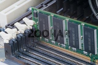 Makro, RAM Arbeitsspeicher in einem Personal Computer, PC  Macro, RAM memory in a personal computer, PC