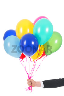 Hand with balloons