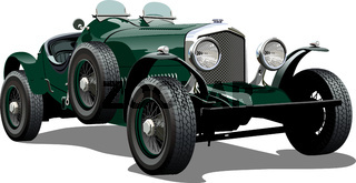 Cartoon vintage car