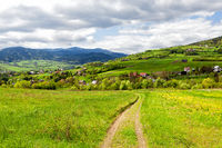 Springtime landscape in the mountain