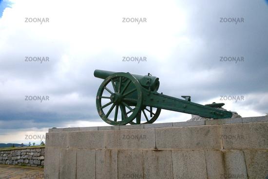 The monument Gun. Shipka. Bulgaria.