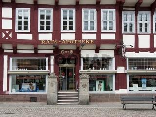 Rats Apotheke in der Fussgaengerzone zu Einbeck
