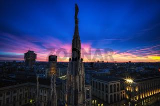 Milan Duomo rooftop